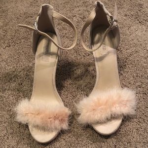 Forever 21 Pink Fluffy Heel . Size 7.5